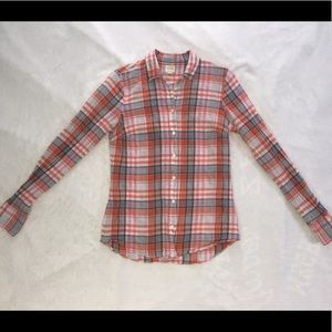 Women's J. Crew plaid shirt size XS.
